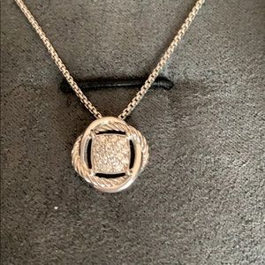 David Yurman Diamond Infinity Pendant Necklace
